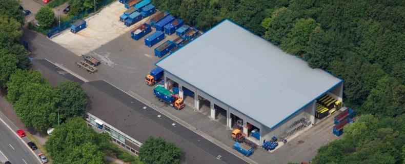 Luftbild des HUI Geländes